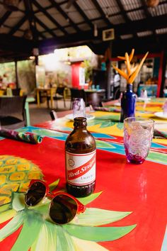 Red Stripe beer at Miss T's in Ocho Rios. A guide to visiting jamaica including tips about money, food and transport