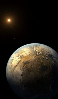 "n-a-s-a:  ""  Kepler-186f ~ The first known Earth-size planet to lie within the habitable zone of a star beyond the Sun. Discovered using data from the prolific planet-hunting Kepler spacecraft, the distant world orbits its parent star, a cool, dim, M..."