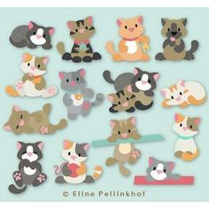 Puppy Crafts, Paper Punch Art, Marianne Design Cards, Art Drawings For Kids, Heart Crafts, Cat Cards, Ornament Crafts, Animal Cards, Foam Crafts