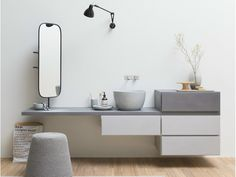 Wall-mounted vanity unit with drawers Esperanto Collection by Rexa Design | design Monica Graffeo