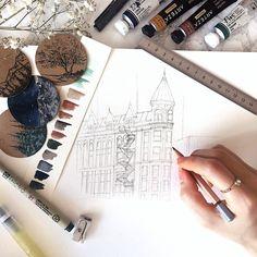 Flat iron building watercolor sketch #sketch #sketching #drawing #draw #art #artwork #artist