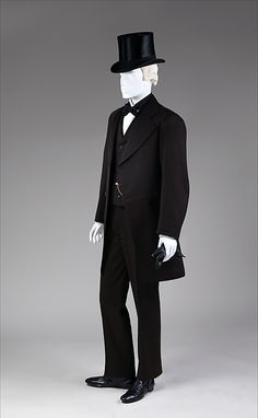 1867-68, American Suit. my bf wants to get married in something like this. not sure I object. the hats a little silly.