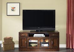 Hanover TV Entertainment Stand by Liberty Furniture - Wolf Furniture - TV or Computer Unit Pennsylvania, Maryland, Virginia