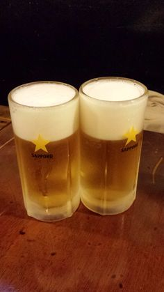 Nothing beats frosty beers. Oh, and the Japanese like a lot of froth