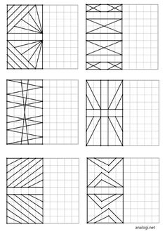 Повтори рисунок по клеточкам   Аналогий нет Visual Motor Activities, Visual Perception Activities, Math Activities, Symmetry Art, Graph Paper Art, Busy Boxes, Easy Drawings For Kids, Geometric Drawing, Kids English