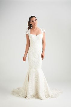 Showstopper lace mermaid wedding dress by Caroline Castigliano, as seen on the Bride.ca Gown Gallery / Store Locator.