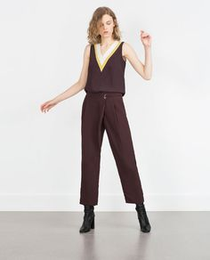 ZARA - SALE - CROSSOVER TROUSERS & MACHING TOP!!!