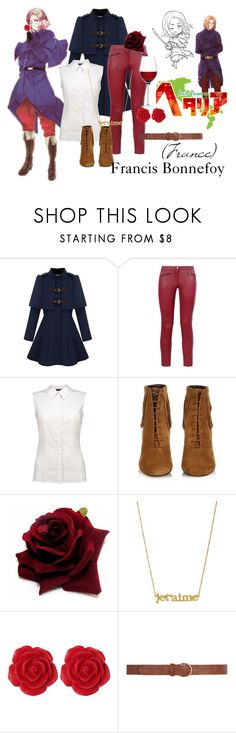 """""""France (Hetalia: Axis Powers)"""" by athenamilbert ❤ liked on Polyvore featuring Barbara Bui, Yves Saint Laurent, Jennifer Meyer Jewelry, Dollydagger, Dorothy Perkins, LSA International and country"""