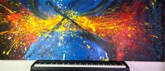 Series: Beauty is What You See // Title: Work [#67] «Explosions 2» // Size: (36''x96'') // Artist: Olicorno // Price: 2500$ (available work)