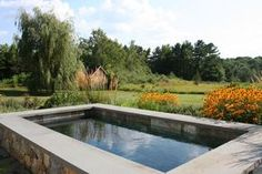 This 5' deep plunge pool can be used year-round!