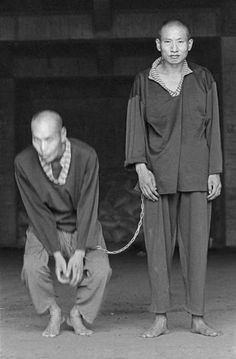 Mental PATIENTS at Long Fa Tang Temple. Kaohsiung, Taiwan. 1998 Chien Chi-Chang