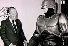 Richard Nixon and his pal RoboCop in 1987. Photo snapped by Chuck Pulin during a charity event promoting the movie's VHS release.