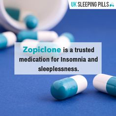 Zopiclone is a trusted medication for Insomnia and sleeplessness.