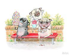 I scream, you scream, pugs scream for ice cream!