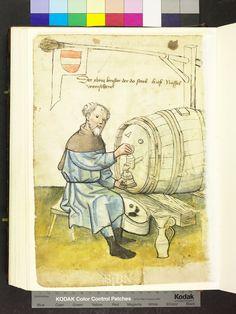 Nüssel, wine Schenck (Weinschenk) [wine maker], from Mendel Housebook, c. 1425