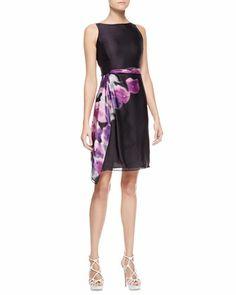 Floral-Print Organza Dress, Violet by Armani Collezioni at Bergdorf Goodman.