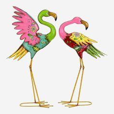 UMA Enterprises 55142 Outdoor Flamingo Garden Statues (Set of 2) - Outdoor Living Showroom