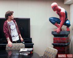 Louis at the Marvel offices. I'm soooo jealous haha I wanna go there