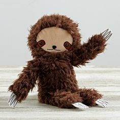 Shop Plush Sloth by Bijou Kitty. This uniquely designed plush sloth has a look like no other. That's because it was designed just for us by Bijou Kitty. It makes the perfect companion for your little ones. Toddler Gifts, Gifts For Kids, Baby Gifts, Buzzfeed Gifts, Baby Store, Little People, Crate And Barrel, Cute Gifts, Kids Toys