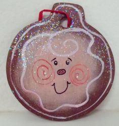 Handpainted Hanging Decor Ornament Wreath by paintingwhimsy, $6.00