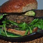 Mushroom and Lentil Veggie Burger
