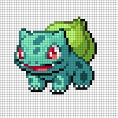 Bulbasaur Perler Bead Pattern | Bead Sprites | Characters Fuse Bead Patterns