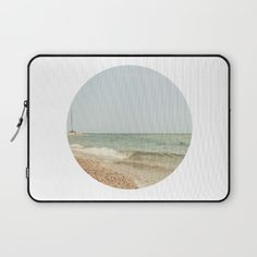 Beachscape Laptop Sleeve by ARTbyJWP #laptopsleeve #techaccessories #beach ------Protect your laptop with a unique Society6 Laptop Sleeve.<br><br>Our form fitting, lightweight sleeves are created with high quality polyester - optimal for vibrant color absorption. The design is printed on both sides to fully showcase the artwork while keeping your gear protected. Pulling back the YKK zipper, you'll find the interior is fully lined with super soft, scratch resistant micro-fiber.