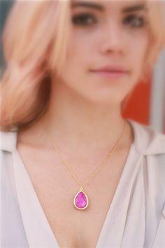 Medium Stone Drop Necklace | Stitch and Stone