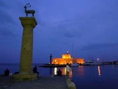 This could be your night view! Book now your summer holidays in the magnificent #Medieval City of #Rhodes , #Greece !