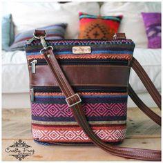 The Triple Zip - Crossbody PDF Pattern - Handmade Vegan Cork Fabric Bags My Bags, Purses And Bags, Fabric Bags, Cork Fabric, Bag Pattern Free, Purse Patterns, Sewing Patterns, Craft Bags, Patchwork Bags