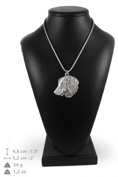 NEW Teckel longhaired dog necklace silver by ArtDogshopcenter