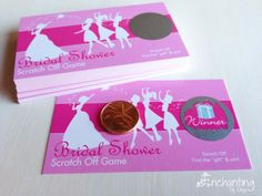DISCOUNTED 1.50 Bridal Shower Scratch Off Game Cards. $1.50, via Etsy.