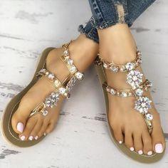 Sandals Outfit, Cute Sandals, Flat Sandals, Flip Flop Sandals, Cute Shoes, Flip Flops, Flat Shoes, Women's Shoes, Dance Shoes