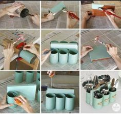 How To Reuse Cans For Home Organization And Storage http://www.wimp.com/tin-can-storage-organization-diy-hack-ideas/