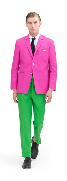 Oh Thom Browne/ Brooks Brothers. How I love you. Just when I am becoming obsessed with pink and green, you TAKE it there.