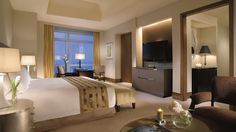 Room, mmm..I mean, suite above the sky. The Ritz-Carlton Suite.