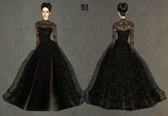 """Mod The Sims - Fashion story from Heather. Wedding. Charm of Gothic. Set """"Black lace"""""""