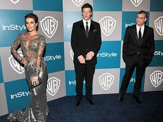 Glee's Lea Michele in Marchesa, Cory Monteith and Mark Salling