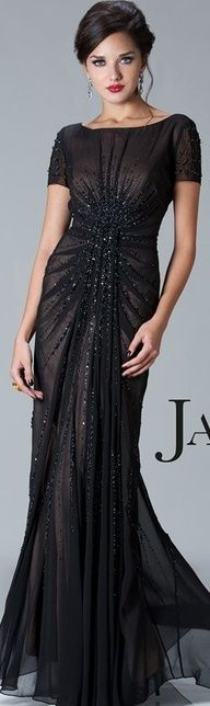Bridesmaid dress option... Black evening gown...very elegant http://apparelsdepot.com/product-category/woman-collection/evening-gown/