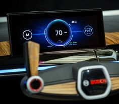 Bosch showcar cluster design at CES 2017