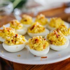 Crunchy Bacon Deviled EggsGreat Recipes from FRENCH'S® Foods | FRENCH'S Mustard, Fried Onions, Worcestershire Sauce Products