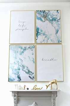 Here's the latest trend and look for creating an art print gallery wall in your home.