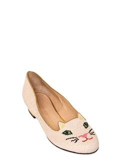 CHARLOTTE OLYMPIA - KITTY EMBROIDERED LOAFERS - LUISAVIAROMA - LUXURY SHOPPING WORLDWIDE SHIPPING - FLORENCE