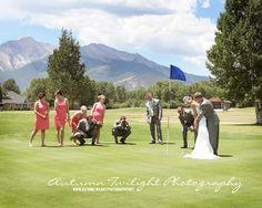Too fun for the golf course wedding :) Collegiate Peaks Golf Course, Buena Vista CO.