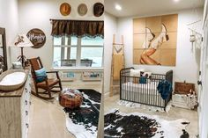 A Southern Belle Nursery Fit For A Princess. Tired of the typical pink for girls and blue for… Cowgirl Nursery, Western Nursery, Western Rooms, Cowgirl Baby, Vintage Cowboy Nursery, Camo Baby, Girl Camo, Western Baby Nurseries, Baby Boy Nurseries