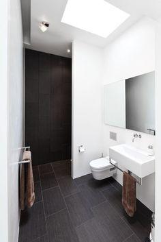 Stramt uttrykk på badet Modern Baths, Houzz, Storage Ideas, Bathing, Toilet, Bathroom, Interiors, Future, Nice