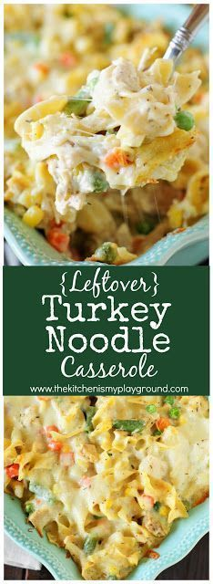 You Have Meals Poisoning More Normally Than You're Thinking That Leftover Turkey Noodle Casserole ~ This creamy cheesy casserole is so good, you may not want to wait for turkey leftovers to make it! Turkey Noodle Casserole, Leftover Turkey Casserole, Turkey Noodle Soup, Hamburger Casserole, Hamburger Recipes, Casserole Recipes, Soup Recipes, Dinner Recipes, Cooking Recipes