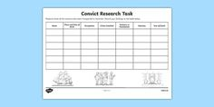 The First Fleet Convict Research Task Activity Sheet - australia, The First…