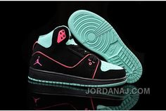 premium selection 43a12 2eeaf Women Nike Air Jordan 1 Flight 2 Shoes Black Pink Turquoise from Reliable  Big Discount! Women Nike Air Jordan 1 F