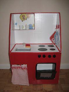 Come costruire una cucina di cartone fai da te per bambini ...